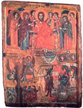 Icoana cu două feţe: Maica Domnului şi Judecata de Apoi